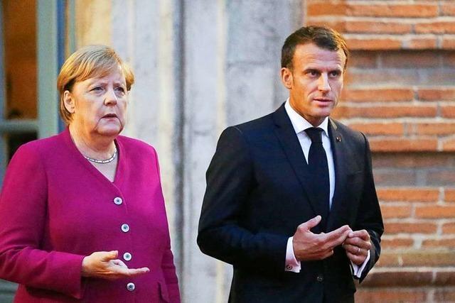Merkel und Macron zeigen sich einig