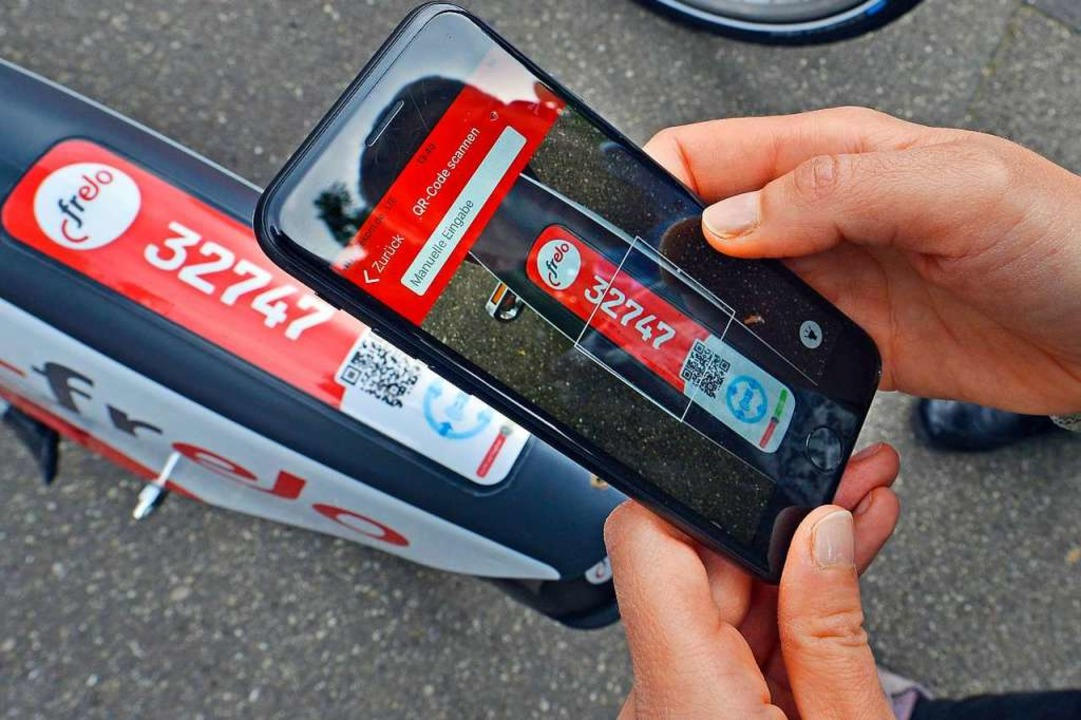 11.000 Radlerinnen und Radler haben sich bislang in der Frelo-App registriert.  | Foto: Michael Bamberger