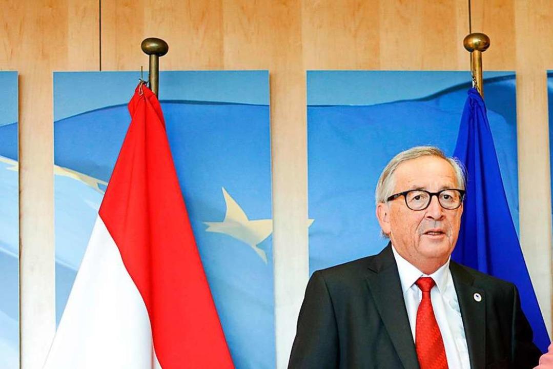 Jean-Claude Juncker kurz vor dem EU-Gipfel in Brüssel  | Foto: Andy Wenzel (dpa)