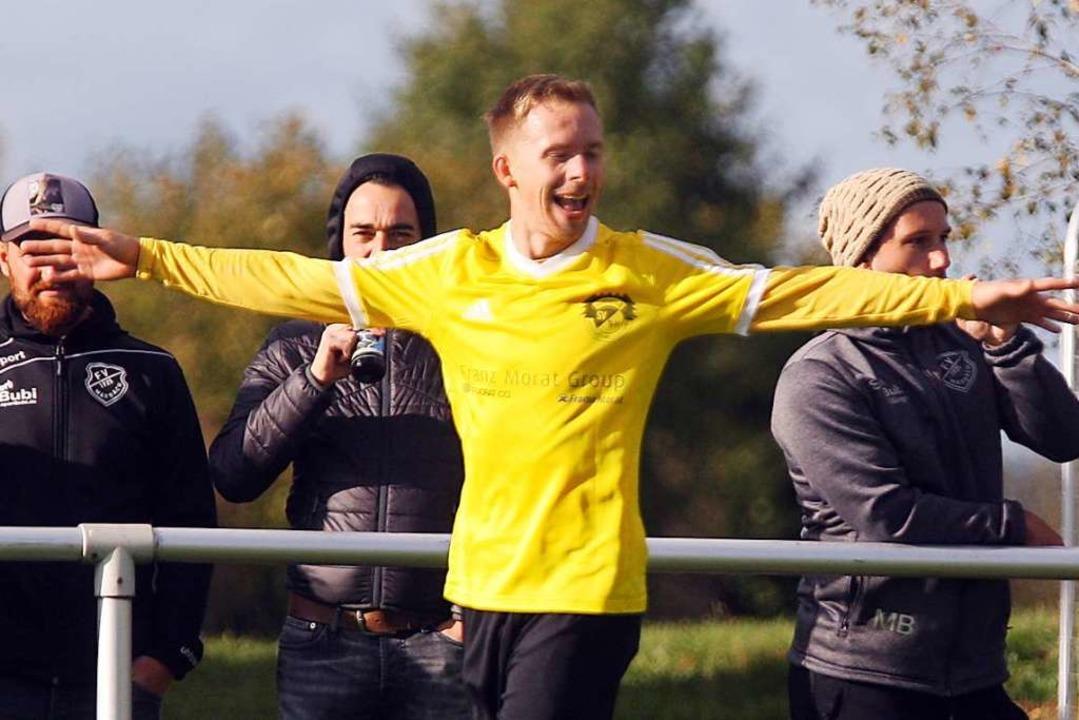 Dauerläufer und Last-Minute-Torschütze: Patrick Koch vom SV Hölzlebruck  | Foto: Dieter Reinhardt