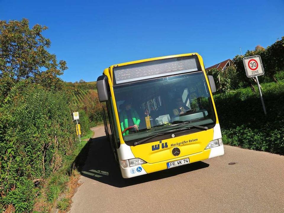 Vom Aussterben bedroht: Bus der Ringlinie Süd in Auggen-Hach.  | Foto: Beatrice Ehrlich