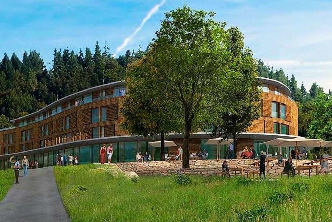So soll das Hotel auf der Luisenhöhe einmal aussehen.  | Foto: geis & brantner