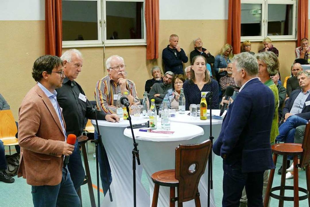 Die Diskussionsrunde mit den Gemeindev...en, Gerd Schönbett und Patricia Fromm.    Foto: Sarah Trinler
