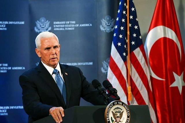 Nordsyrien: USA und Türkei vereinbaren fünftägige Waffenruhe