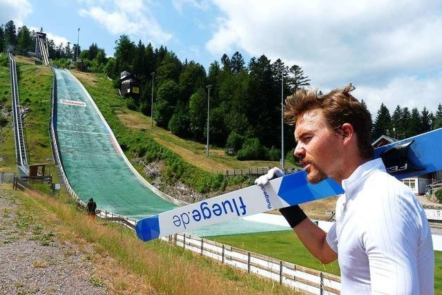 Fabian Rießle bei der DM als Titelverteidiger am Start