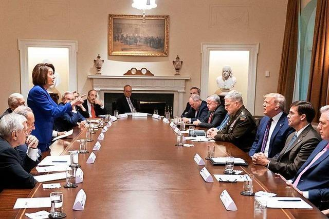 Eklat im Weißen Haus: Pelosi bricht Treffen mit Trump ab