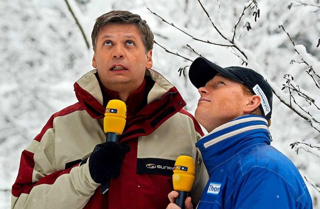 An der Seite von Günther Jauch komment...ächst für RTL. Das Foto entstand 2004.  | Foto: dpa