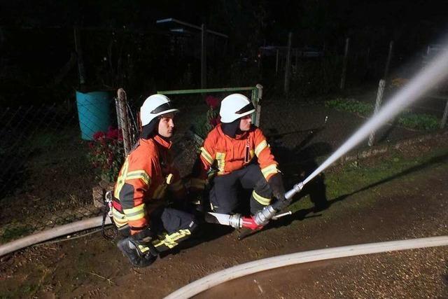 Dichte Bebauung fordert die Helfer bei der Feuerwehrübung in Grafenhausen