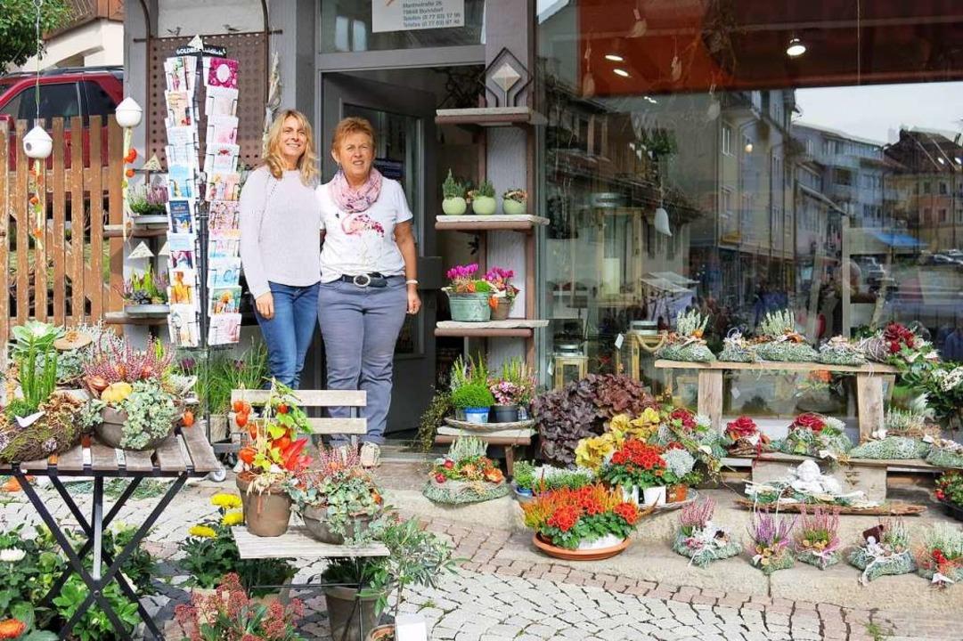 Blumen, Topfpflanzen und Gestecke &#82...mengeschäft Woll war die Auswahl groß.  | Foto: Erhard Morath