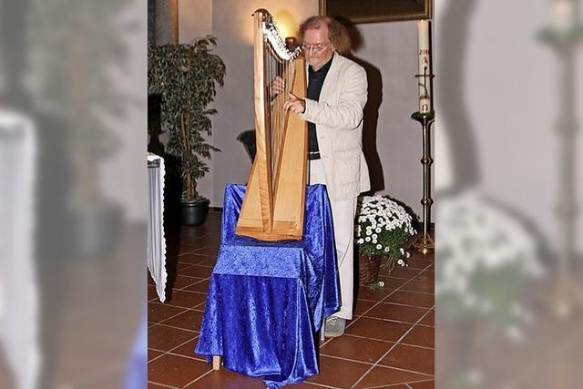 Harfenklänge verzaubern das Publikum