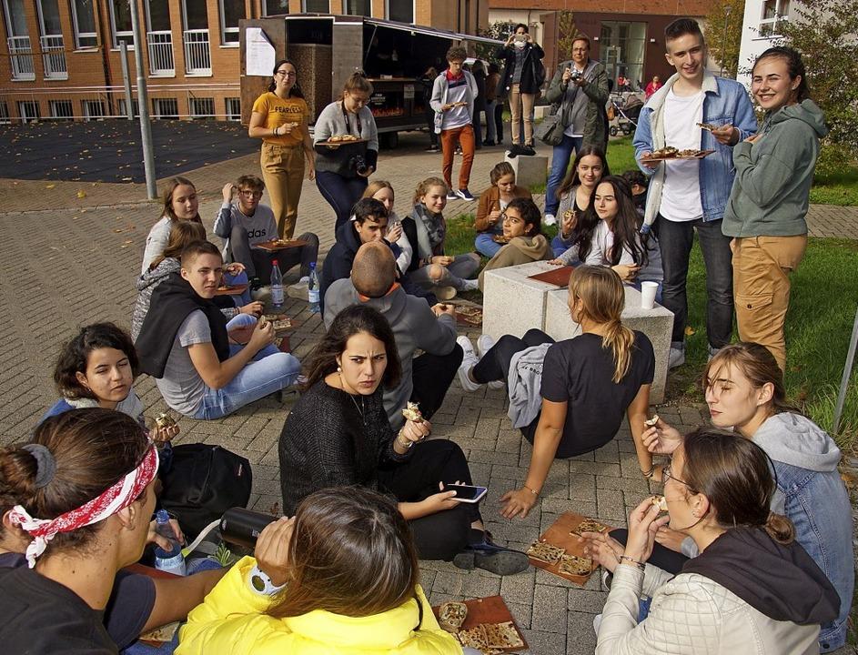 Miteinander arbeiten, miteinander esse...n Kenzingen zum Thema Weltkulturerbe.   | Foto: Ilona Huege