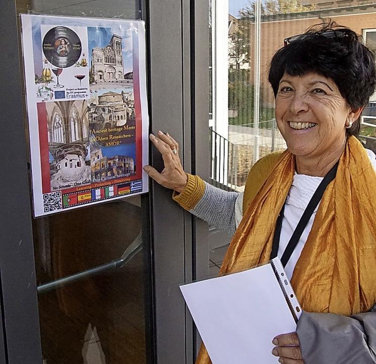 Claudia Hertz initiierte und koordinie...s EU-Projekt zum Thema Weltkulturerbe.  | Foto: Ilona Huege