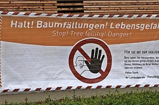 Auch im grünen Forst kann's lebensgefährlich werden