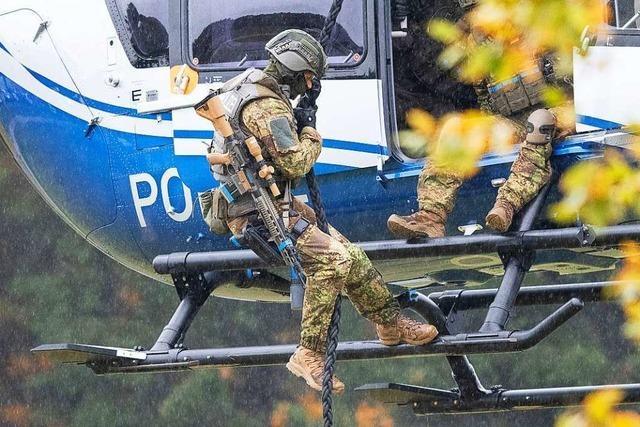 Polizei und Bundeswehr üben großen Antiterroreinsatz