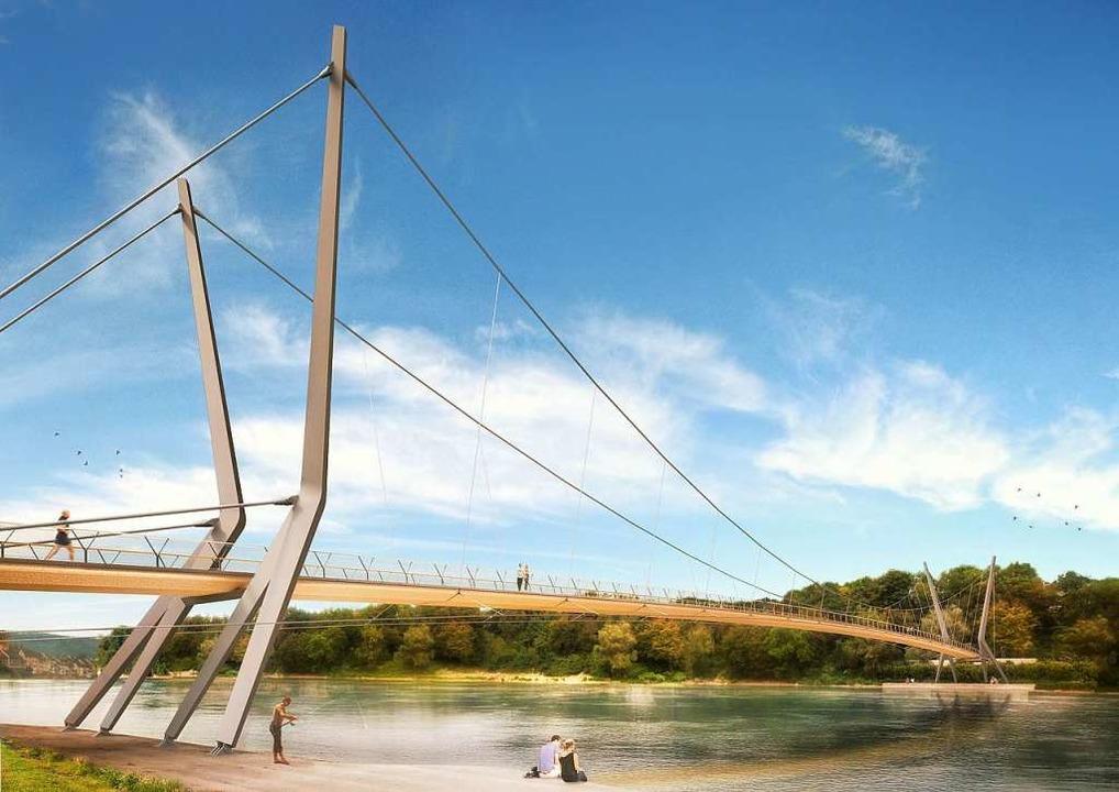 So hätte der Rheinsteg aussehen können.  | Foto: Render-Manufaktur, IB Miebach