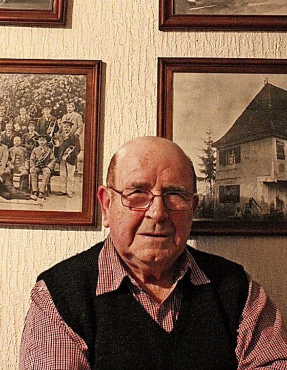 Der Geschichte verbunden: Adolf Pfreng...rte am Sonntag seinen 85. Geburtstag.   | Foto: Otmar Faller