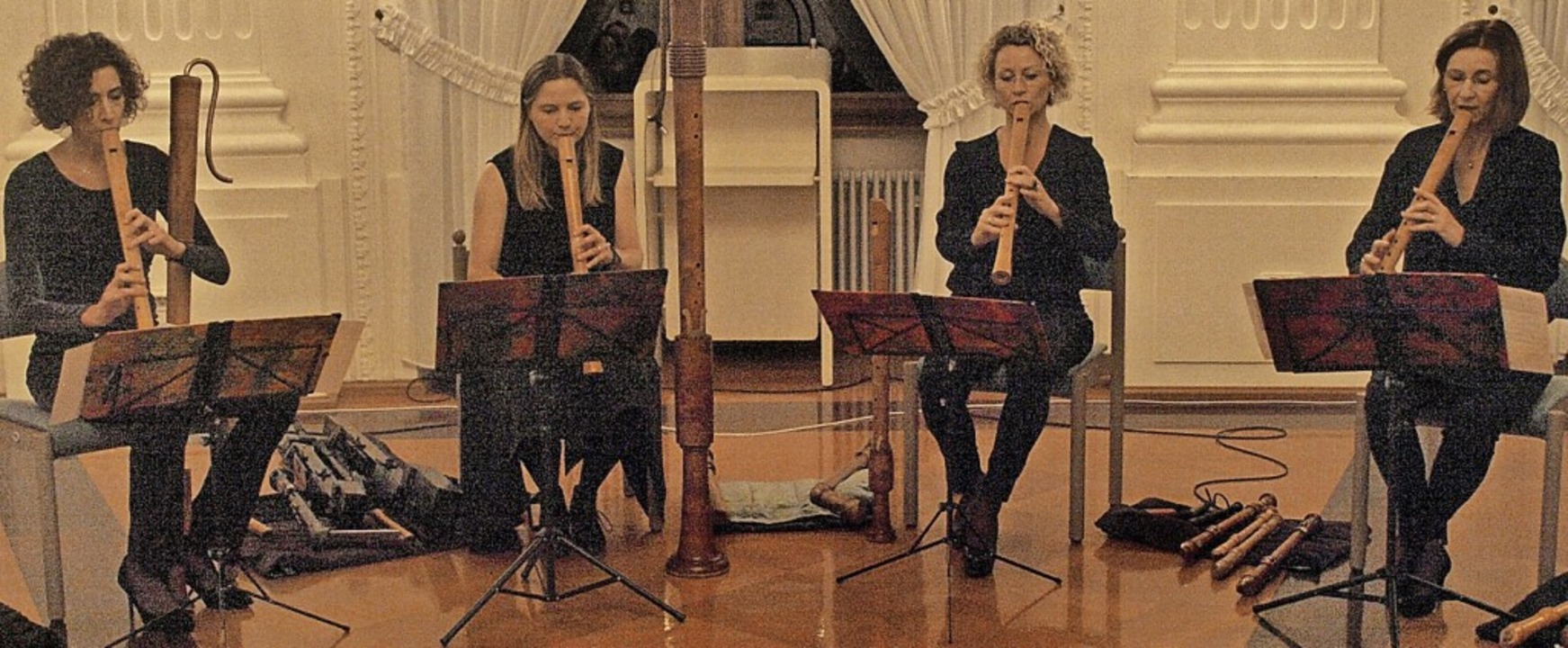 """Flautando Köln"" hatten ei...Kollegsfestsaal restlos begeisterten.   | Foto: Karin Stöckl-Steinebrunner"