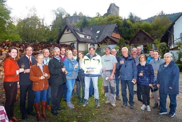 Startschuss für die Sanierung der Burgruine Diersburg ist gefallen