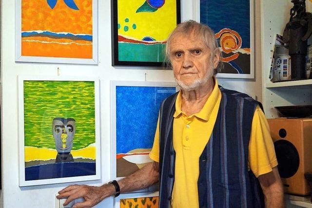 Max Sauck ist noch mit 90 Jahren als Künstler in Kandern aktiv