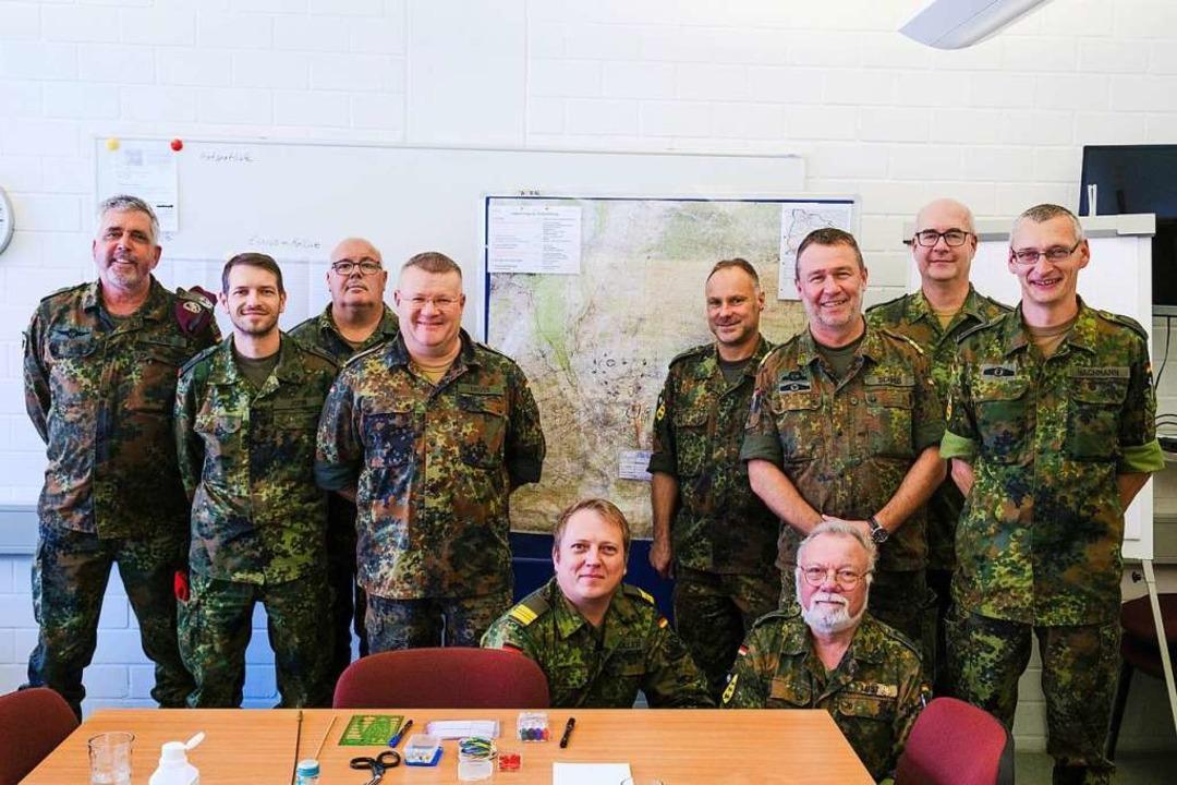 Das KVK Lörrach mit Leiter Markus Wetzel (links)  | Foto: Ansgar Taschinski