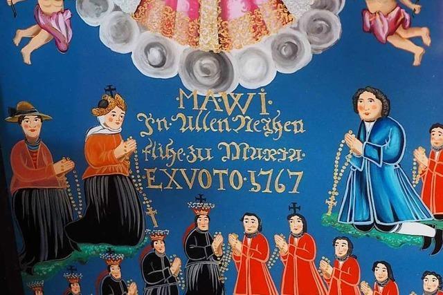 Warum ein Hinterglasbild aus St. Märgen nochmal gemalt worden ist
