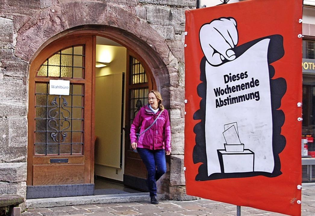 Die Abstimmung ist gelaufen. Die Mehrh...n Rheinfelden wird also nicht gebaut.   | Foto: Petra Wunderle