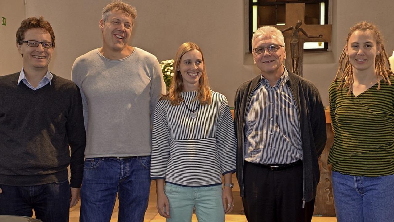 Fünf der sechs Kandidaten für den Kirc...ilipp, Peter Röckel und Susanne Schulz  | Foto: Gabriele Rasenberger