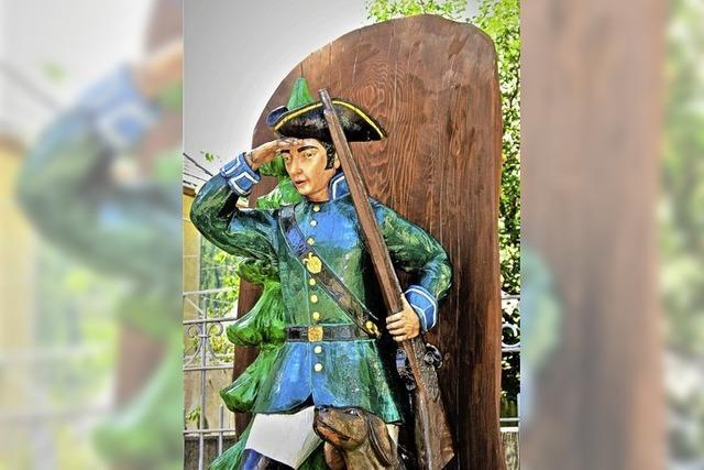 Spenden sollen die Holzfigur erhalten
