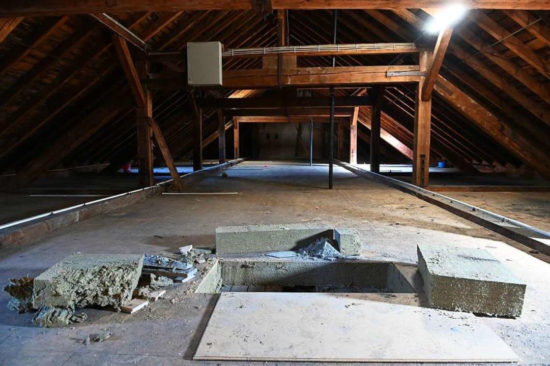 Der Dachstuhl von innen    Foto: Jonas Hirt