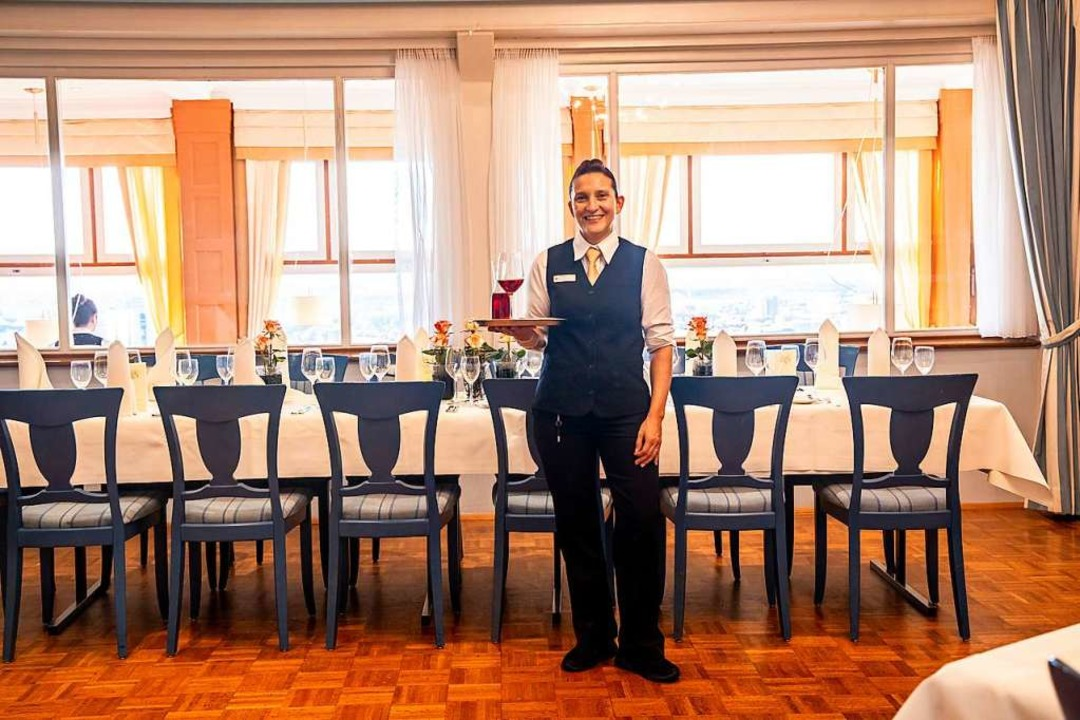 Jacqueline Krause im Freiburger Restaurant Dattler.   | Foto: Joss Andres