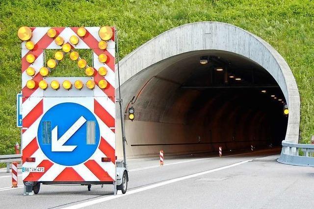 Der Nollinger Tunnel ist wieder befahrbar