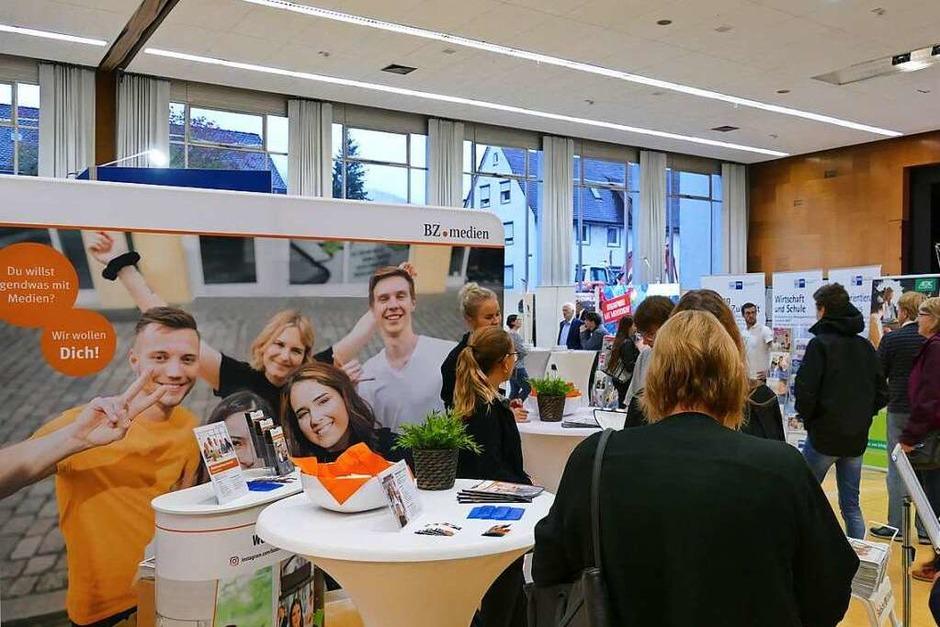 In Waldkirch empfingen wir die Schüler am BZ.medien Stand. (Foto: BZ-Azubis)
