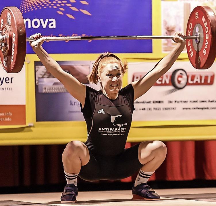Punktbeste KSV-Heberin: die Schweizerin Alessia Joy Wälchli   | Foto: Gerd Gruendl