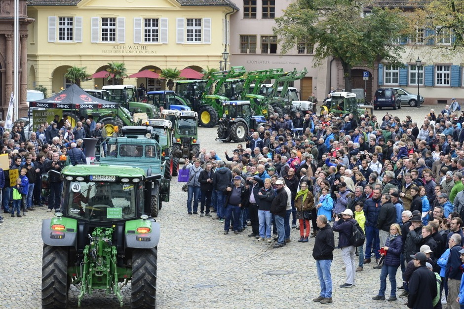 Bauernprotest in Freiburg (Foto: Ingo Schneider)