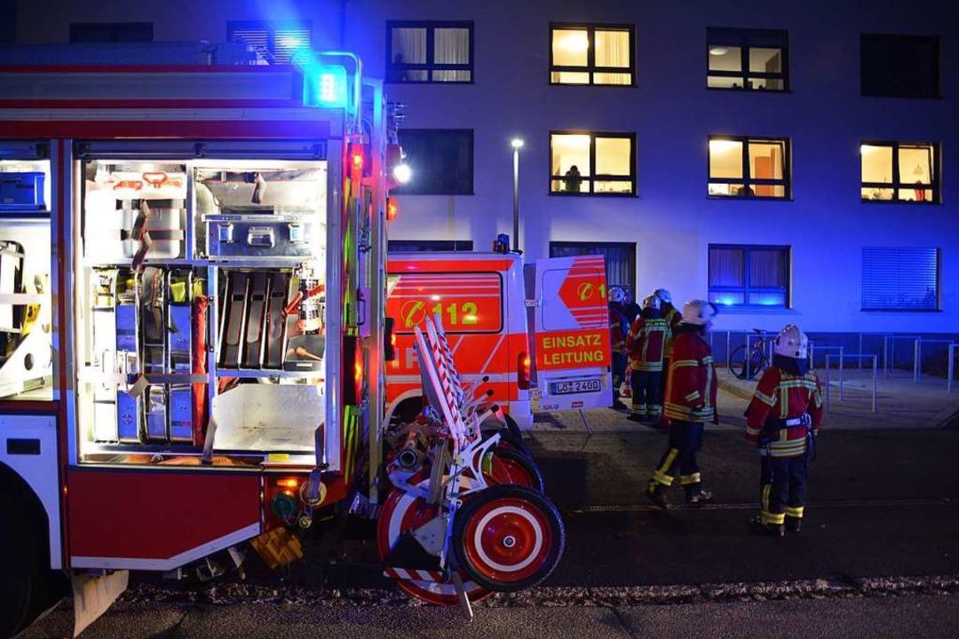 Feuerwehreinsatz am Pflegeheim Markgräflerland    Foto: Hannes Lauber