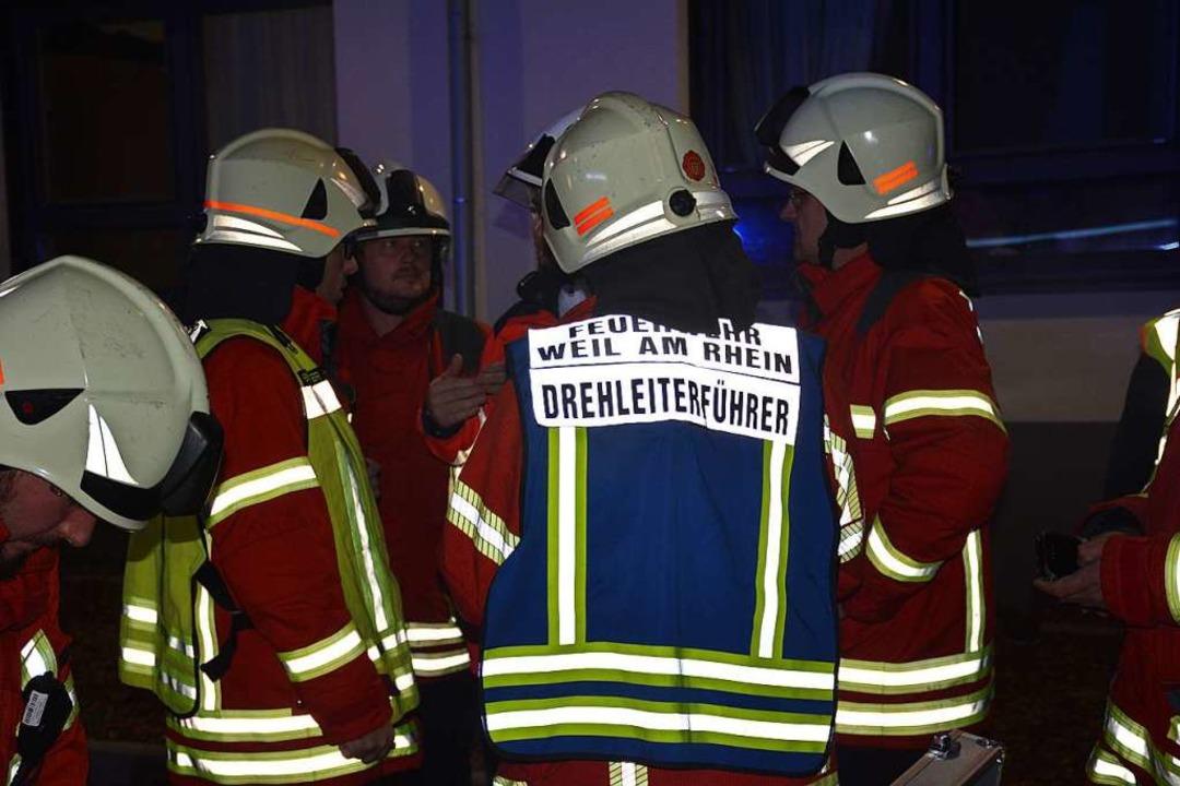 Lagebesprechung am Pflegeheim Markgräflerland    Foto: Hannes Lauber