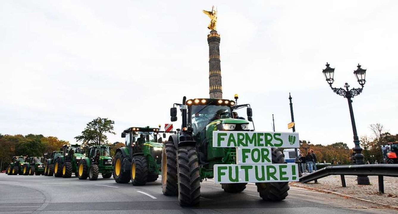 Bauern-Protest in Berlin  | Foto: Bernd von Jutrczenka (dpa)