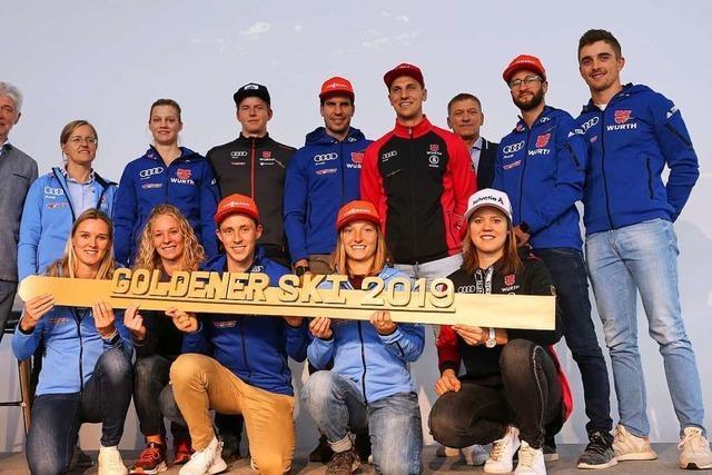 Janosch Brugger erhält den Goldenen Ski