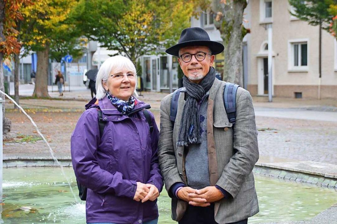 Chantal Hellwig und Jörg Moritz-Reinba...en um genossenschaftliche Mitstreiter.  | Foto: Horatio Gollin