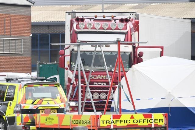 Lastwagen-Container mit 39 Leichen in England entdeckt