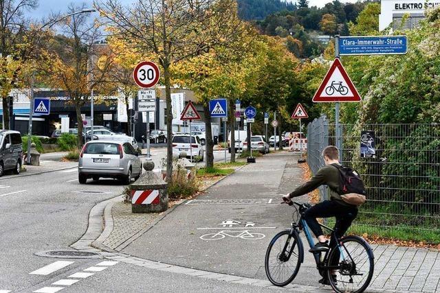 Freiburger Stadtverwaltung will mehr Sicherheit für Radler an der Wiesentalstraße