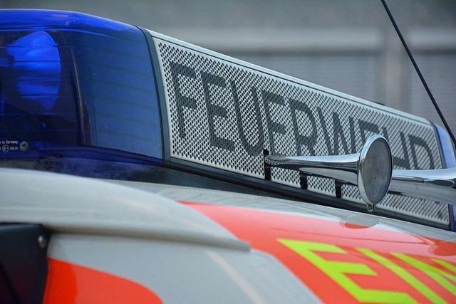 Die Feuerwehrabteilungen Buchholz und Waldkirch löschten schnell und verhinderten Schaden – drei Personen unverletzt gerettet