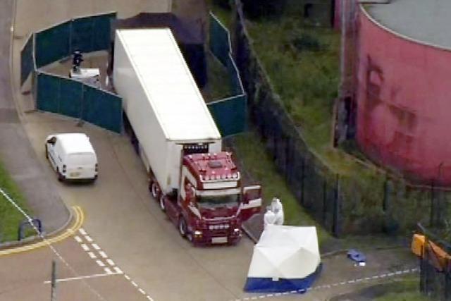 39 Tote lagen in einem Lkw in England