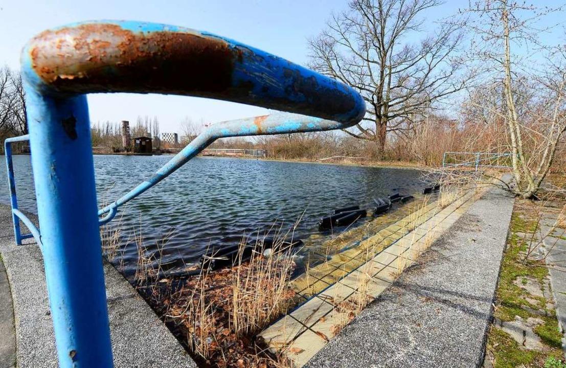 Das alte Außenbecken des Westbads ist ...03 gesperrt und verfällt (Archivbild).  | Foto: Ingo Schneider