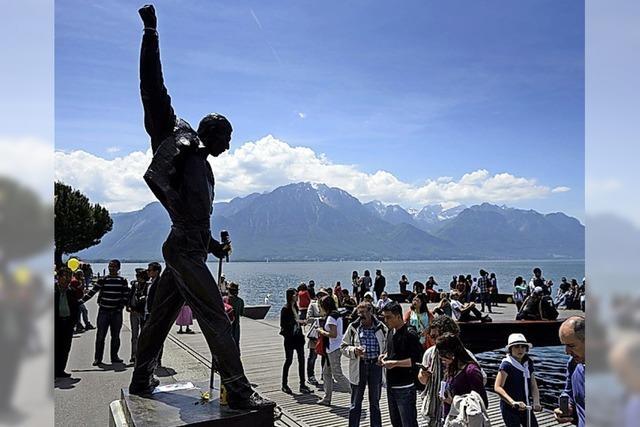Mit Freddie Mercury am See in Montreux