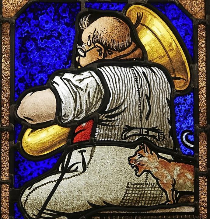 Glasmalerei ist Thema eines Kurses: Ein Tubaspieler  | Foto: E. Bub