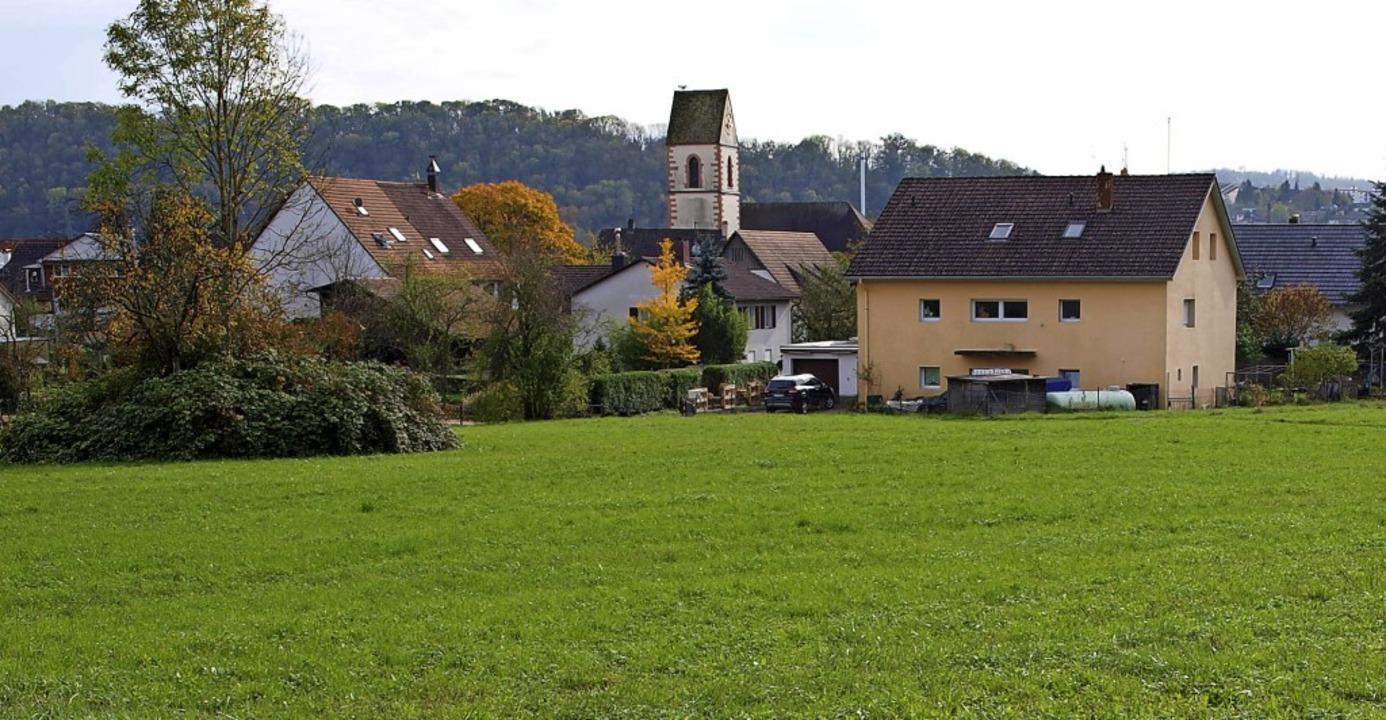Am Soormattbach in Hauingen gehört zu ...önsten Lörracher Baugebieten derzeit.   | Foto: Paul Schleer