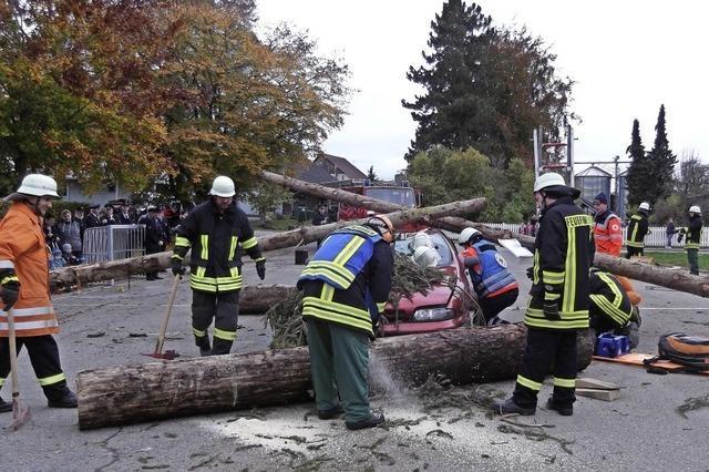 Rettungskräfte sind für den Ernstfall gerüstet