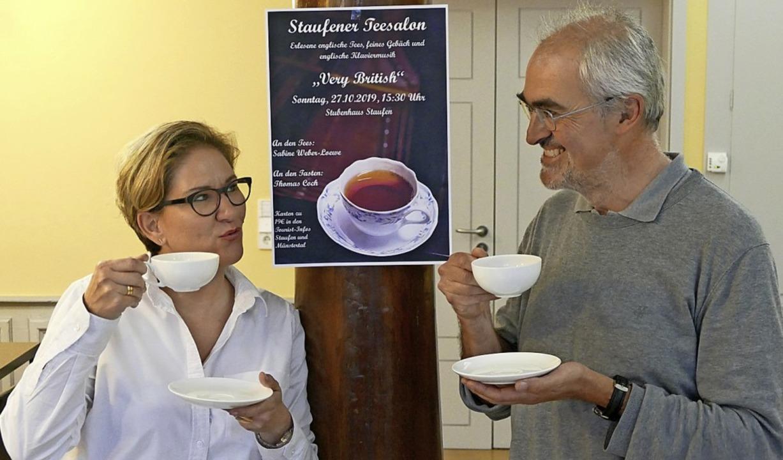 Freuen sich auf den ersten Teesalon im...er-Loewe und Tourismuschef Thomas Coch  | Foto: Victor Adolf