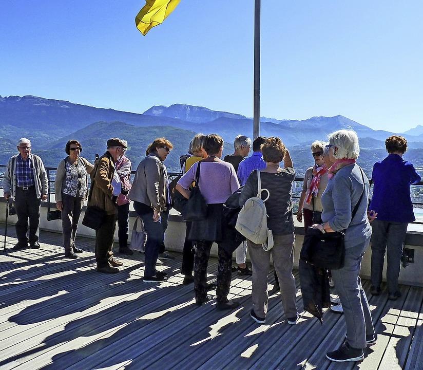 Auf der Plattform la Bastille bei Grenoble.     Foto: Verein
